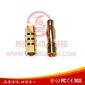 廠家直銷黃銅鍍金4.0香蕉插頭 可訂做各種規格航空模型插頭